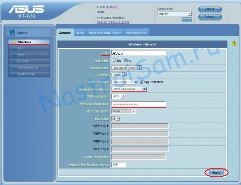 Asus rt-g32 настройка роутера инструкция.
