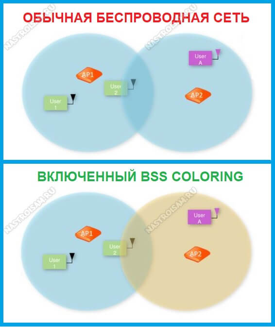преимущества bss coloring