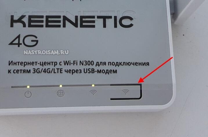 кнопка отключения WiFi на роутере