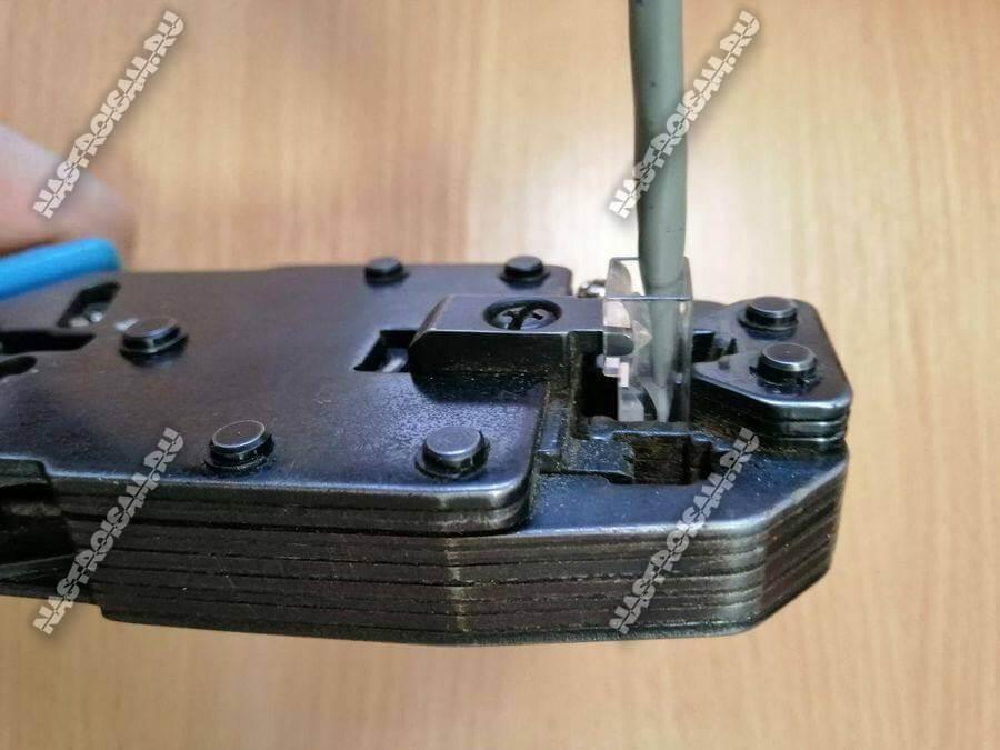 инструмент для обжима витой пары