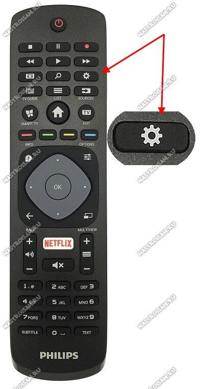 как попасть в настройки телевизора