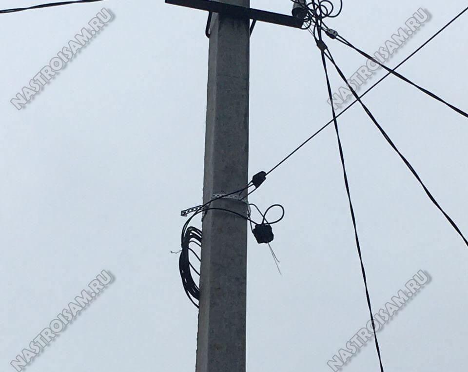 обрыв оптического кабеля