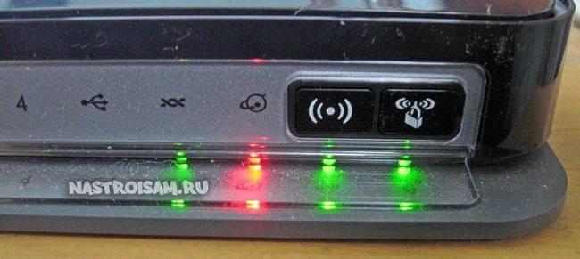 почему красный значок интернета на роутере