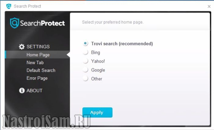 что за программа search protect by conduit