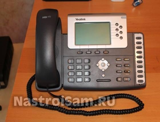 как настроить телефон Yealink SIP T19/T19P, SIP T21/T21P, T22P, T26P